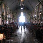 Interior del templo de Caguach.