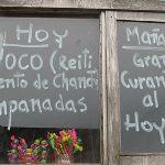 Puesto de comida en Caguach.