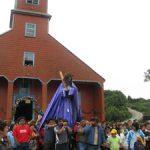 El Nazareno de Caguach en la procesión.