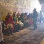 El párroco, que vive en Putre, aprovecha la ocasión para adoctrinar a los fieles.