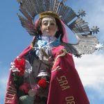 La patrona de la Iglesia de Parinacota, la Virgen de la Natividad.