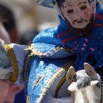 La imagen de San Santiago también es sacada del templo para transportarlo por las calles durante la procesión.
