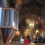 Interior de la iglesia de Achao.