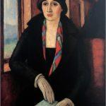 Camilo Mori La viajera 1928 100x70cm Óleo tela Museo Nacional de Bellas Artes 3 070